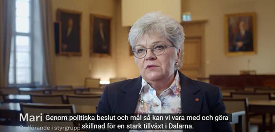 Mari Jonsson, ordförande i styrgruppen för UDD. Bilden är länk till filmen om UDD.