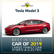 Tesla Model 3 - Euro NCAP Best in Class 2019 - Large Family Car
