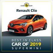 Renault Clio - Euro NCAP Best in Class 2019 - Supermini