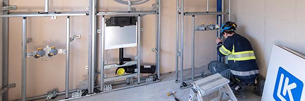 Effektiv badrumsrenovering med LK Installationsvägg