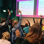 Människor i rörelse på seminarium om övervikt och fetma bland skolbarn