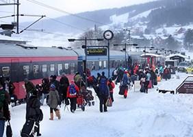 Åre 2019 VM-tåget Stockholm–Åre tur & retur