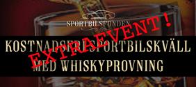 Extraevent Sportbilskväll med whiskyprovning