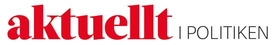 Syntolkning av bild: Aktuellt i Politikens logotyp.
