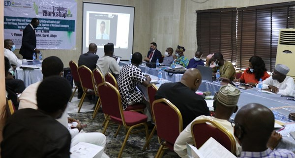 Nigerian government staff participating in workshop